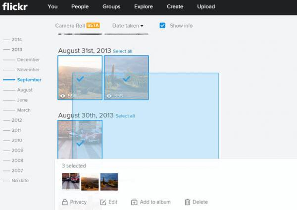 Get started with Flickr's Camera Roll